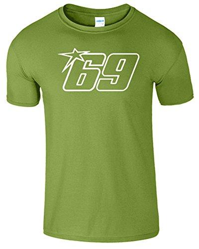 Nicky Hayden Frauen Der Männer Damen MOTO GP T Shirt Kiwi / Weiß Design