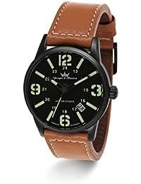 Yonger & Bresson YBH 8351-88 - Reloj de pulsera hombre, piel, color marrón