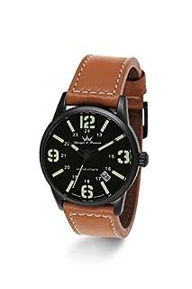 Yonger & Bresson - YBH 8351-88 - X-Trem - Montre Homme - Automatique Analogique - Cadran Noir - Bracelet Cuir Marron (B00OION1CI) | Amazon Products