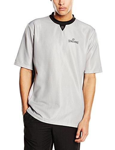 Spalding Schiedsrichtershirt Pro, grau/schwarz/silbergrau, L, 300205401 (Hose Schiedsrichter Pro)