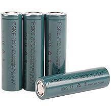 FSKE 18650 Batería Recargable de Ion-Litio 3.7V 3000mAh para Cigarrillos electrónicos (4