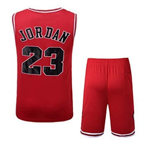 Formesy NBA Jersey Michael Jordan #23 Chicago Bulls Basketball Trikot für Herren Retro Gym Weste Sport T-Shirt Neu Stoff Bestickt Swingman Jersey Hemd -