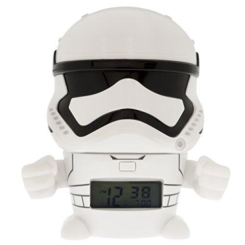 Foto de BulbBotz Despertador Infantil con Figurita de la Tropa de Asalto, Blanco, 8.89x12.7x13.97 cm