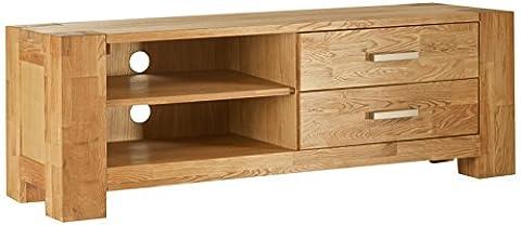 SIT-Möbel 1615-01 Lowboard Zeus, 133 x 44 x 47 cm, massiv wildeiche, wildeichefurnier geölt