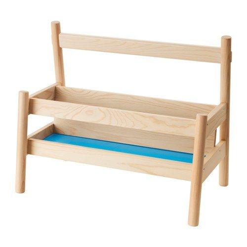 IKEA FLISAT Bücherbank aus Massivholz