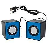 fgghfgrtgtg 2 Pezzi USB Telefono Mini Piazza Altoparlante Mobile Audio Compact Computer Desktop di Dimensioni ridotte Laptop Speaker 3.5mm Jack