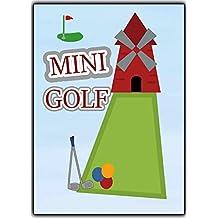 MINI-Golf Einladungskarten Einladungen Ausflug Party Geburtstagseinladungen