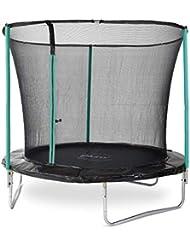 Plum 8 Foot Galvanized Steel Children's Trampoline with Safety Net for Outdoors Garden - Green