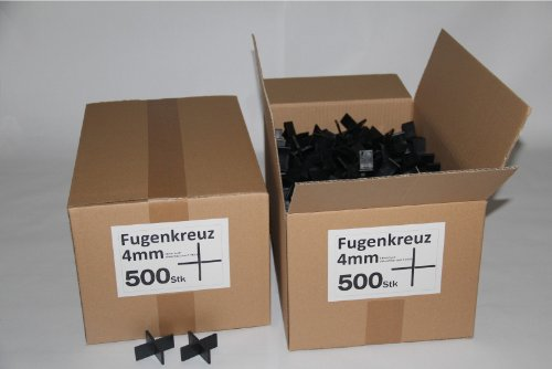 Preisvergleich Produktbild Fugenkreuze 4mm, Bauhöhe 20mm, 500 Stück im Karton