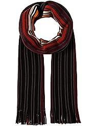 VB Écharpe, colorée, fine maille côtelée, à rayures - effrangé