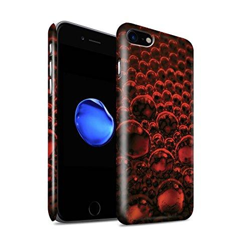 STUFF4 Glanz Snap-On Hülle / Case für Apple iPhone 8 / Blau Muster / Blasen/Tröpfchen Kollektion Rot