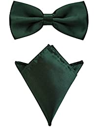 Rusty Bob - Fly with handkerchief in various colors (up to 48 cm neck circumference) - for confirmation, to suit, a tuxedo - a set of 2