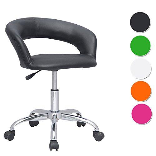 SixBros. Design Rollhocker Arbeitshocker Hocker Bürostuhl Schwarz- M-95098721