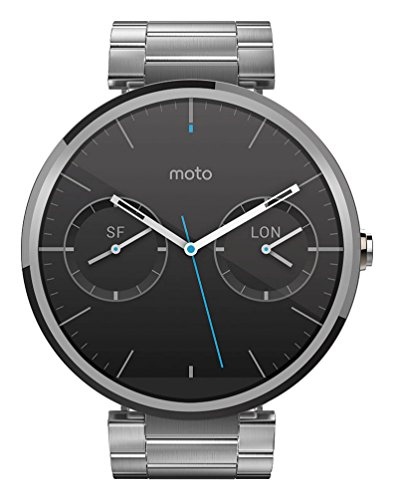 Motorola Moto 360 Metal Edition Light-Finish Smartwatch (Metal Band, 23 mm)