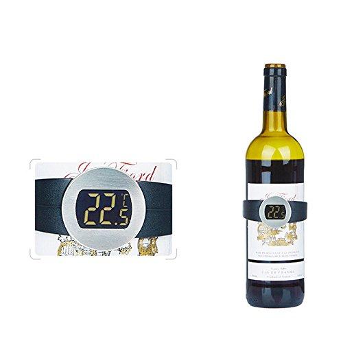 kati-way-uk Smart Elektronische Wein Thermometer, digital Thermometer für Aufnahme Temperatur rot Wein
