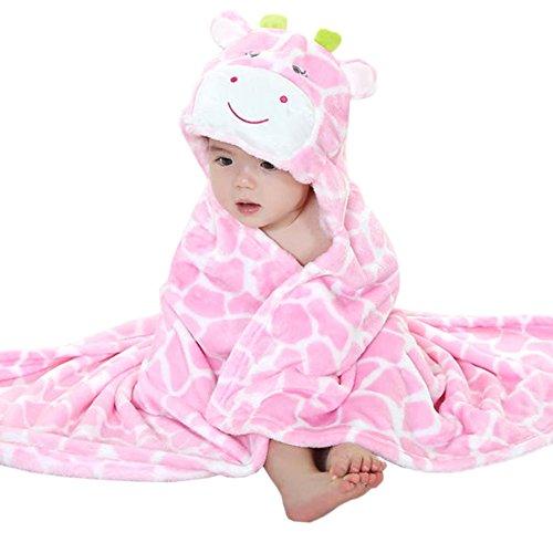 Bébé Sortie de Bain Capuche Animal-Peignoir Cape de Bain Bébé Couverture - Très Chic Mailanda (rose)