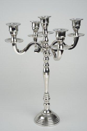 Kaemingk Kerzenständer 5-armig Aluminium vernickelt silber
