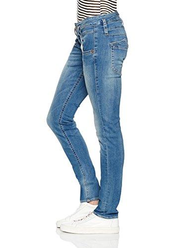 Herrlicher Damen Jeans Pitch Slim Blau (polo blue 648)