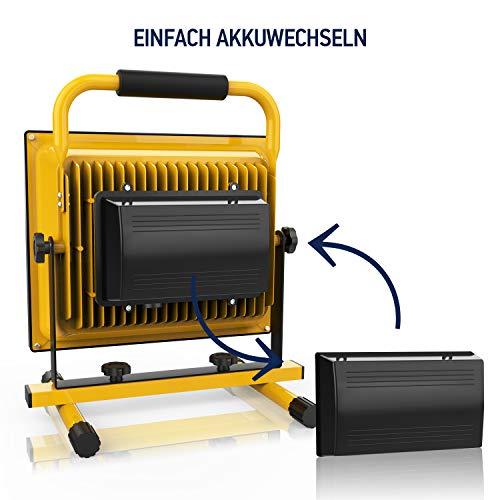Top Akku-LED-Baustrahler-50W-Baulampe-Akku-Strahler-2-Di... JF22