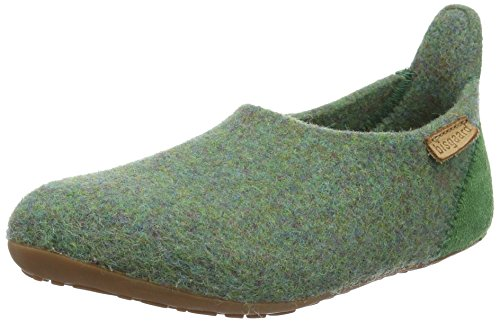 Bisgaard Unisex-Kinder Hausschuhe-Wool Basic Slipper, Grün (30 Green), 35 EU