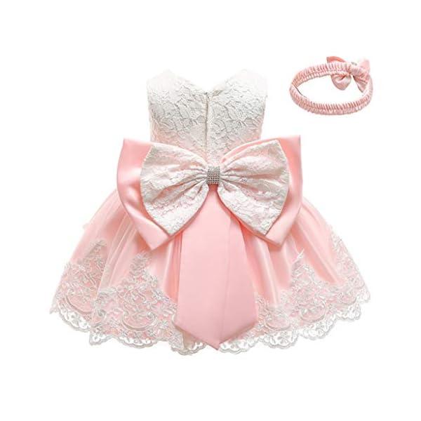 YGbuy Vestido de Novia de Encaje Bordado sin Mangas para Niñas Vestido de Princesa Vestido de Falda + Conjunto de… 2