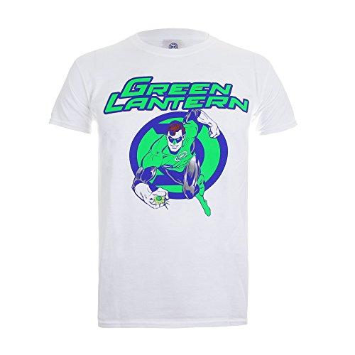 dc-comics-herren-green-lantern-light-mens-t-shirt-lrg-weiss-white-large