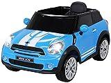 Kinder Elektroauto Mini Cooper Paceman Lizenziert 2x45 Watt Motor Blau - Elektro Auto Elektroauto Kinderauto