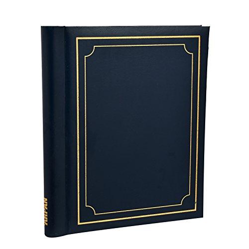 arpan-auto-adhesif-grande-garniture-de-cachet-dor-bleu-albums-photos-totalisant-20-feuilles-40-cotes