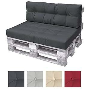 beautissu eco elements coussins pour canape euro palette dossier 120x40x10 20cm gris. Black Bedroom Furniture Sets. Home Design Ideas