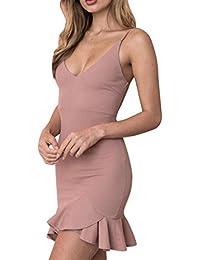 b8d47e16abfe1 Beikoard Vestito Donna Elegante Abbigliamento Vestito Donna Mini Abito  Attillato Sexy Nero con Maniche Lunghe Aderente