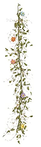 Your Hearts Delight Spring Berries and Resin Flowers Garland, 54 x 2 x 5