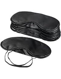 Mudder 10unidades máscara de ojo sombra cubierta venda viaje función automática de apagado y encendido con nariz Pad, Negro