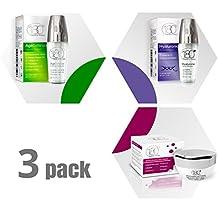 Kit de hidratación total 180 – 3 productos de tamaño completo, disfruta de la piel de aspecto más joven con este kit de cuidado facial para resultados ...