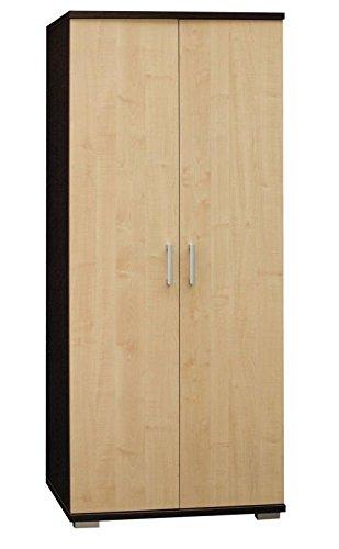 Drehtürenschrank / Kleiderschrank Trelew 34, Farbe: Wenge / Ahorn - 193 x 80 x 57 cm (H x B x T)