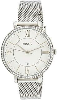 ساعة يد كاجوال للنساء من فوسيل - بلون فضي