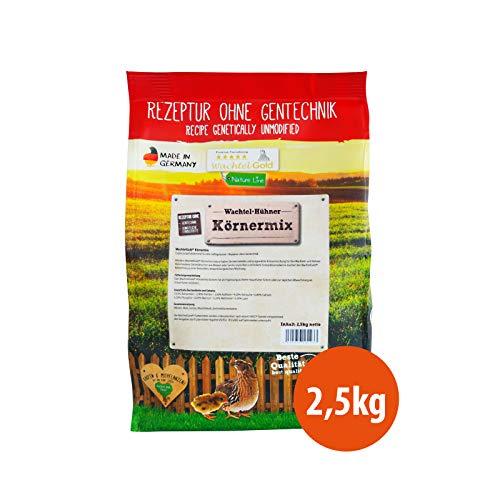 WachtelGold Körnermix Nature - 2,5kg Wachtelfutter - Körnerfutter ohne Gentechnik