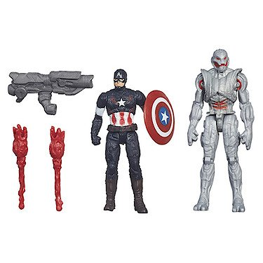 Marvel Avengers - Age of Ultron - 2er Pack - Captain America Vs Ultimate Ultron - 2 Spielfiguren a 6 cm
