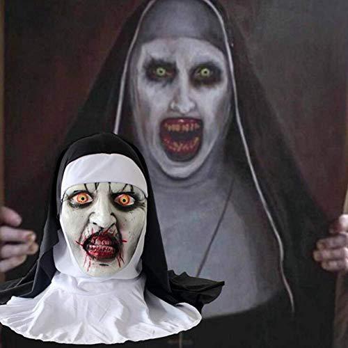 Frauen Sie Kostüm Teufel - SEJNGF Halloween Cosplay Party Horror Kopfbedeckung Terrorist Latex Nonne Maske Ganze Facette Requisiten Männer Und Frauen Grimasse Maskerade Teufel Tod