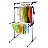 Leostar CD-1201 Multi-Purpose Drying Rack, Stainless Steel, Blue, W 82.8 x H 27.8 x L 10.6 cm
