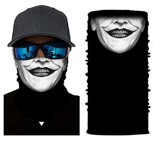 UICICI 3D Magie Stirnband Multifunktionsschal UV Schutz Gesicht Sonnenmaske Für Laufen Radfahren Motorrad Angeln Jagd Hof Arbeit (Size : 60cm)