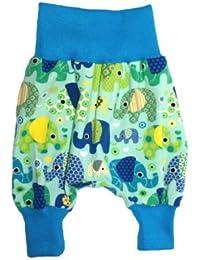 """'Pantalon bouffant bébé """"Éléphant Party Turquoise Harem Pantalon en jersey Pantalon"""
