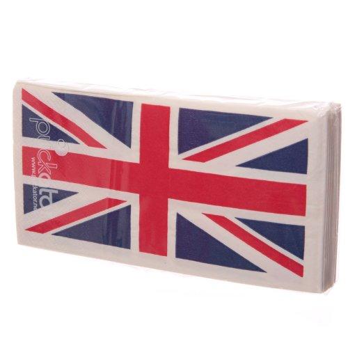 Pltd Tovaglioli Di Unione Jack Motivo Bandiera Inglese In Carta
