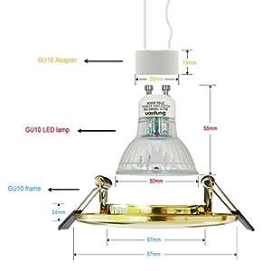 Led Recessed Ceiling Lights,Sunpion 5W GU10 Led Light Bulbs Neutral White Light Lamps 4500K, Led Ceiling Spotlight for Home Living Room Light,Bathroom Ceiling Light,Led Downlights by Sunpion