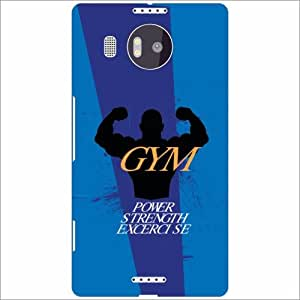 Microsoft Lumia 950 XL Back Cover - Gym & Exercise Designer Cases