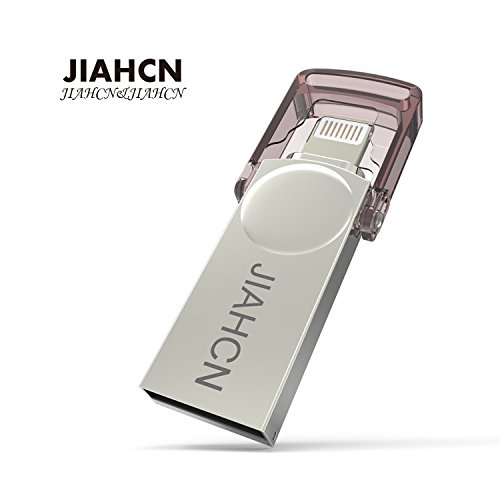 JIAHCN Apple iPhone USB Flash Drive 16GB 2 in 1 Memory Stick Storage Device Hard Disk for Apple iPhone and iPad Connector Computer Mac Laptop PC