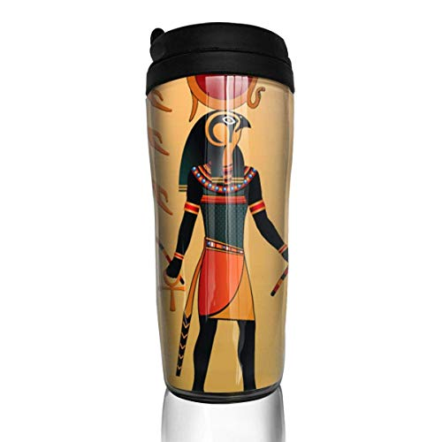 Bgejkos Alte ägyptische Sun Life Fashion Insulated Traveller Kaffeebecher Tumbler Edelstahl Kaffeetasse 12 Unzen