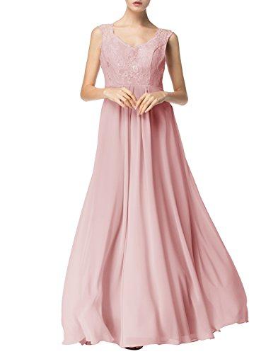 Find Dress Sexy Robe de Soirée Longue Princesse Femme Fille Enfant Robe de Cocktail pour Femme Ronde Col en V sans Manches Robe Demoiselle d'Honneur Fille Grande Taille en Mousseline Blush