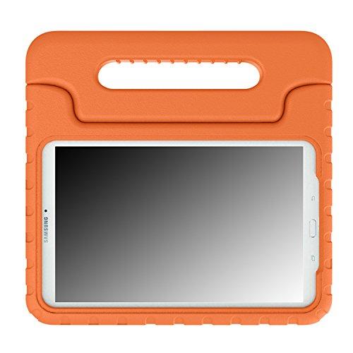 MoKo Tab E 9.6 Hülle Case - Superleicht Eva Stoßfest Kinderfreundlich Kinder Schutzhülle mit umwandelbarer Handgriff Handle und Standfunktion für Samsung Galaxy Tab E 9,6 Zoll Tablet-PC, Orange - Tablet Nook Oder Tasche Nook Farbe