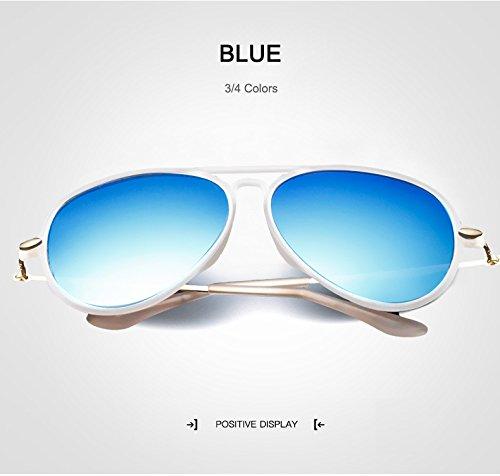 WARM home Wunderschönen UV400 Mode Kinder Polaroid Sonnenbrille Jungen Mädchen Kinder Baby Pilot Sonnenbrille Brille Spiegel Sonnenbrille Kind Gafas oculos Geschenk (Color : Blue)