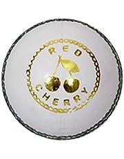 Red Cherry Kookaburra Leather Cricket Ball (White)